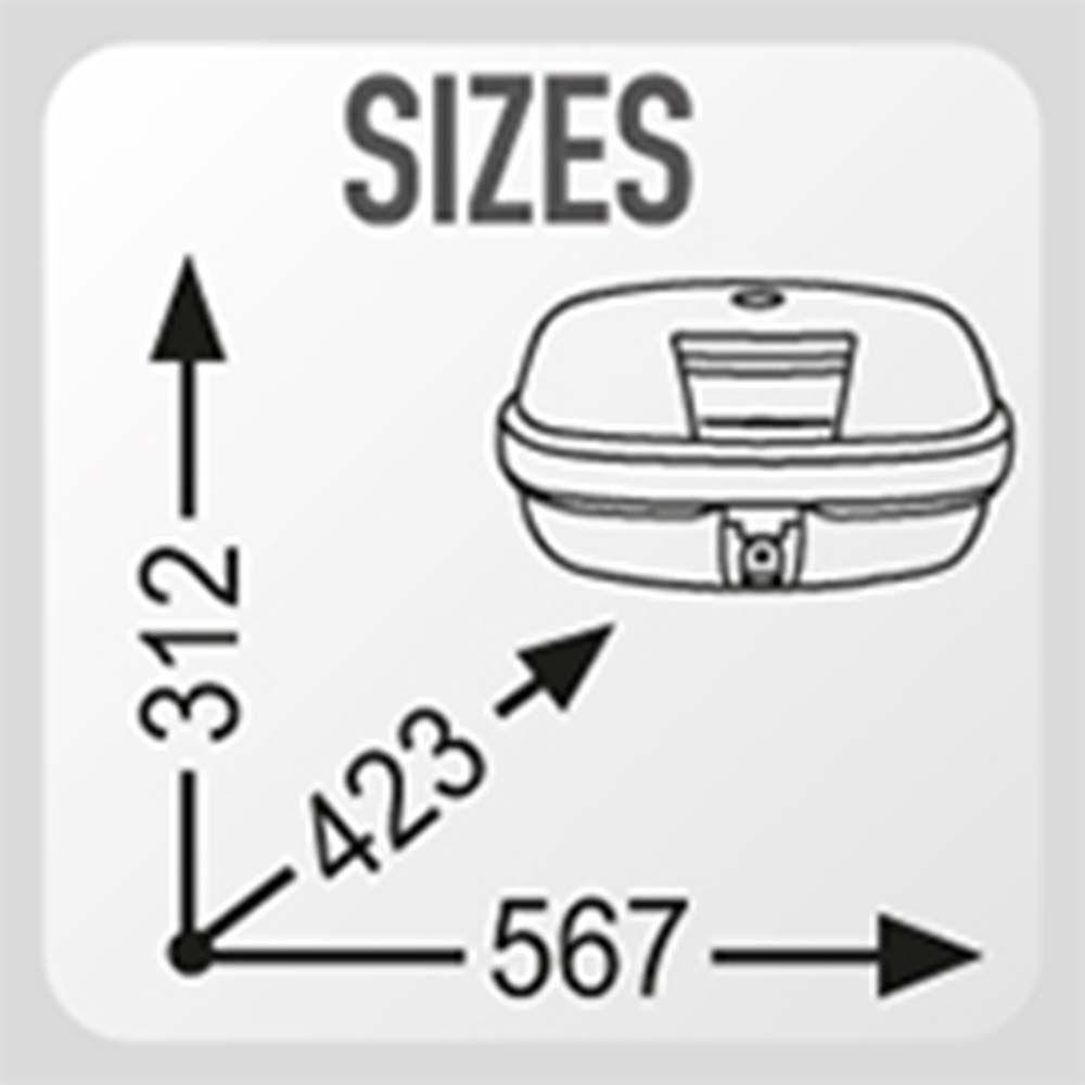 Bau Bauleto 46 Litros Monokey Givi E 460 N 10 kilos