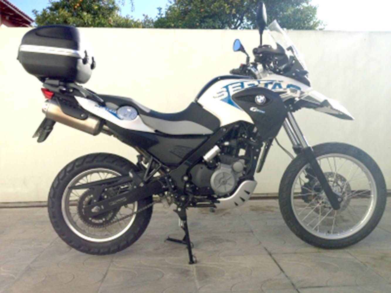 Cavalete Central Descanso Bmw G 650 Gs Sertao Preto 8062