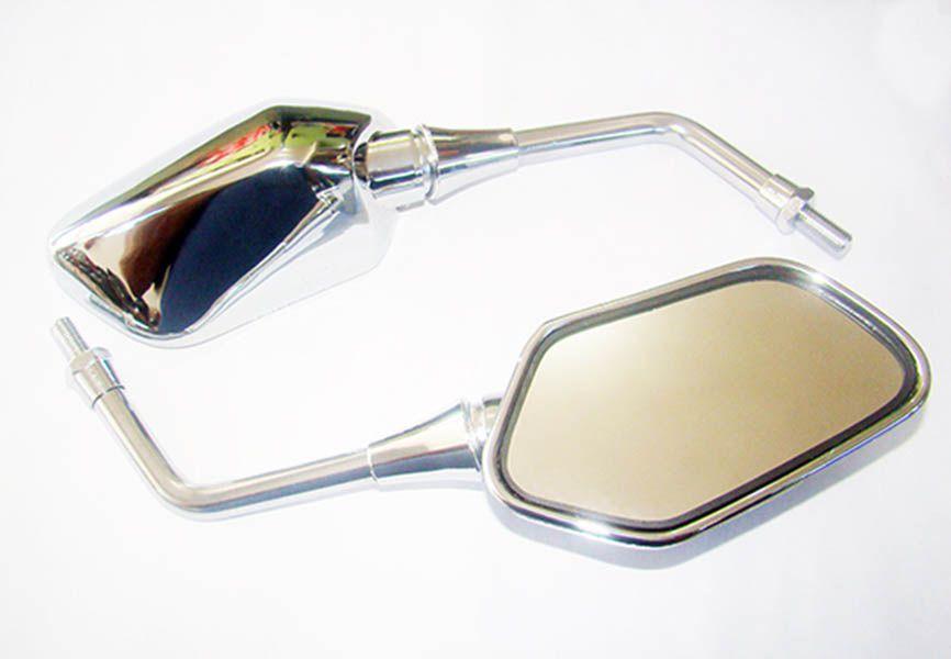 Espelho Cb 300 2011 Par Cromado Modelo Original Convexo 2245