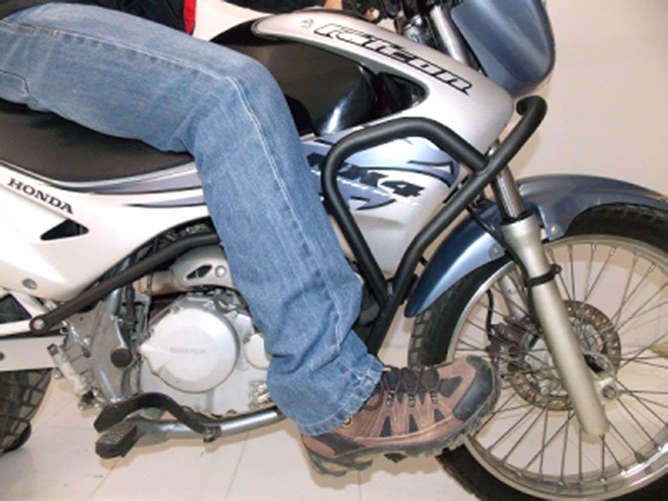 Protetor Carenagem Motor Nx 400 Falcon Preto Chapam 881