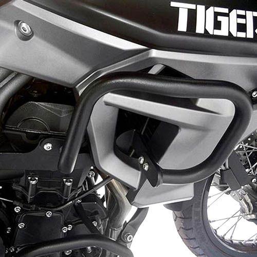 Protetor Carenagem Tiger 800 2015/ Aço Carbono Preto Scam