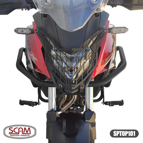 Protetor Motor Perna Carenagem Cb 500 X Scam Com Pedaleira sptop101