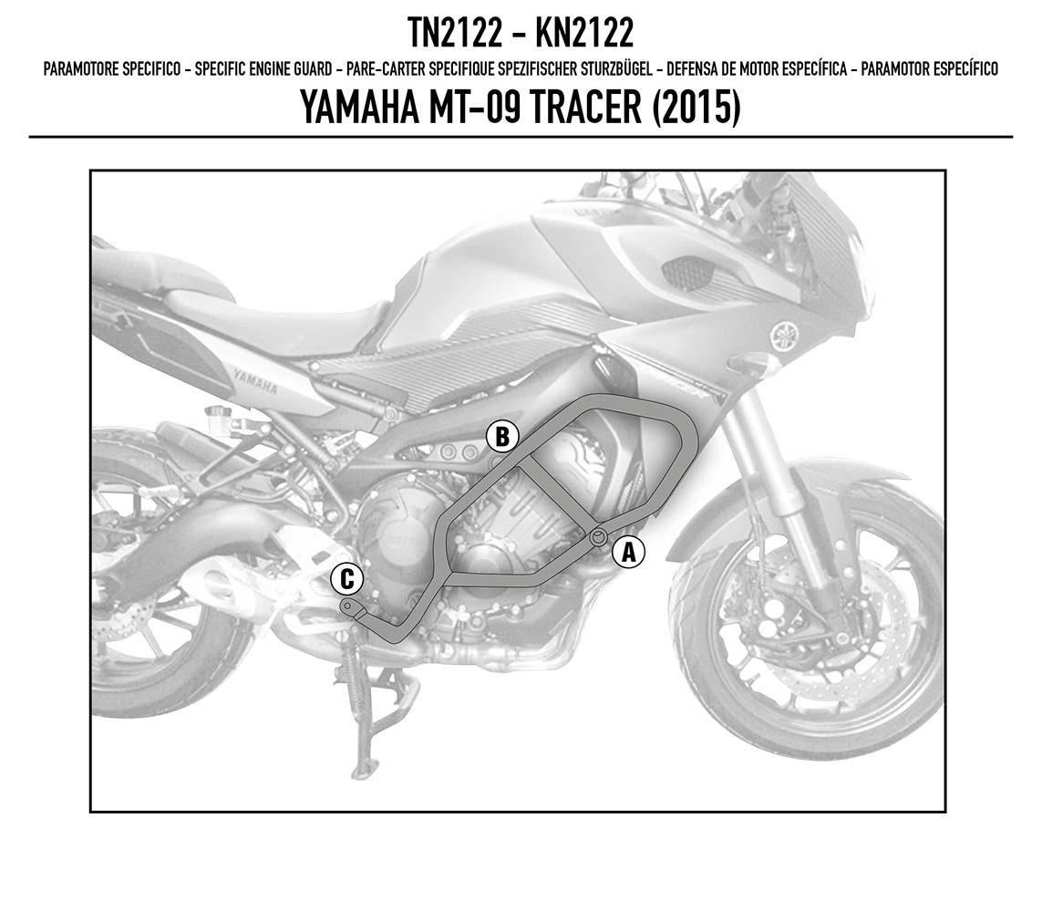 Protetor Motor Perna Carenagem Mt-09 Givi Tn2122 trace r
