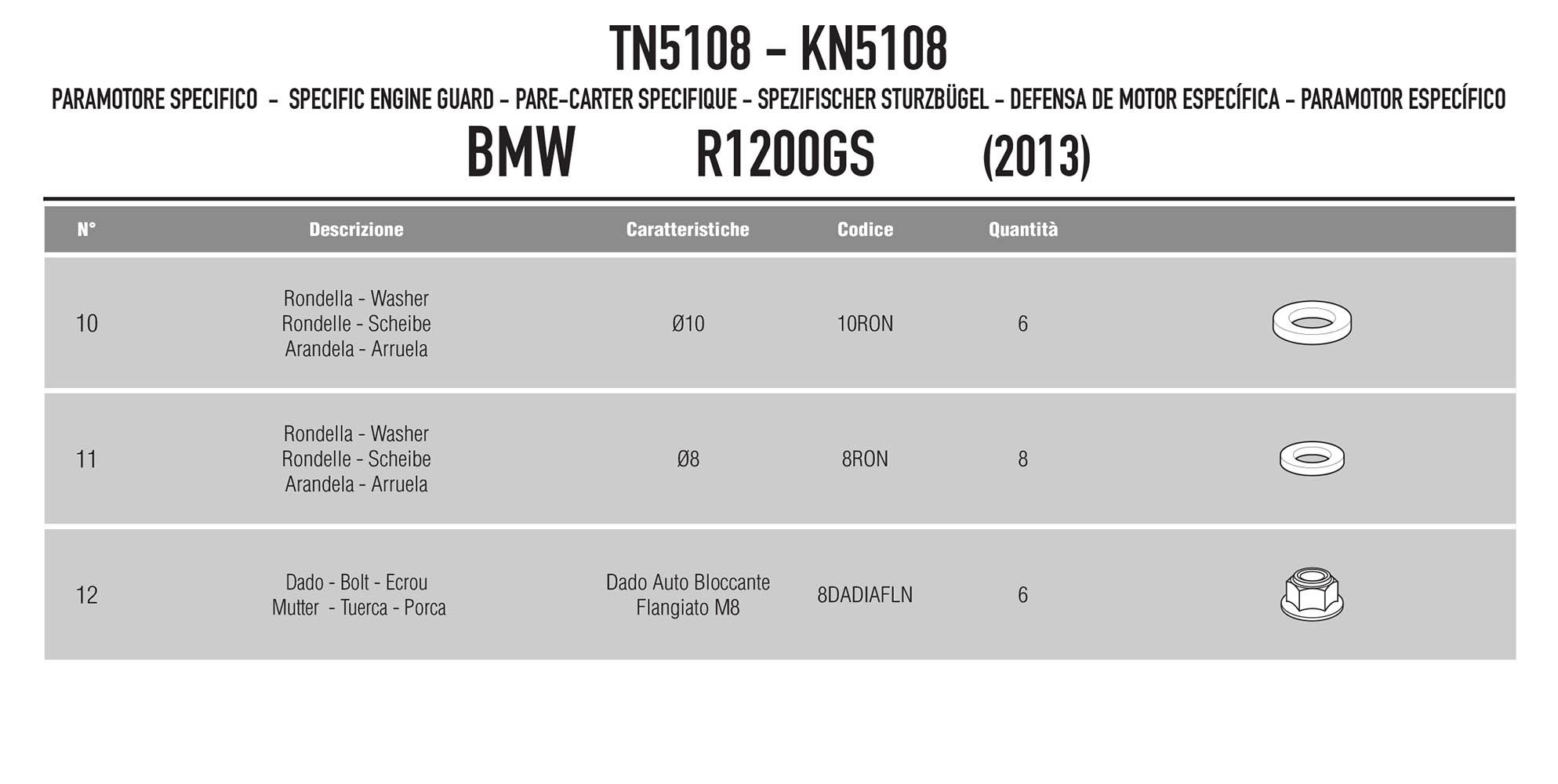 Protetor Motor R 1200 Gs Bmw 2013/2018 Tn5108 Givi