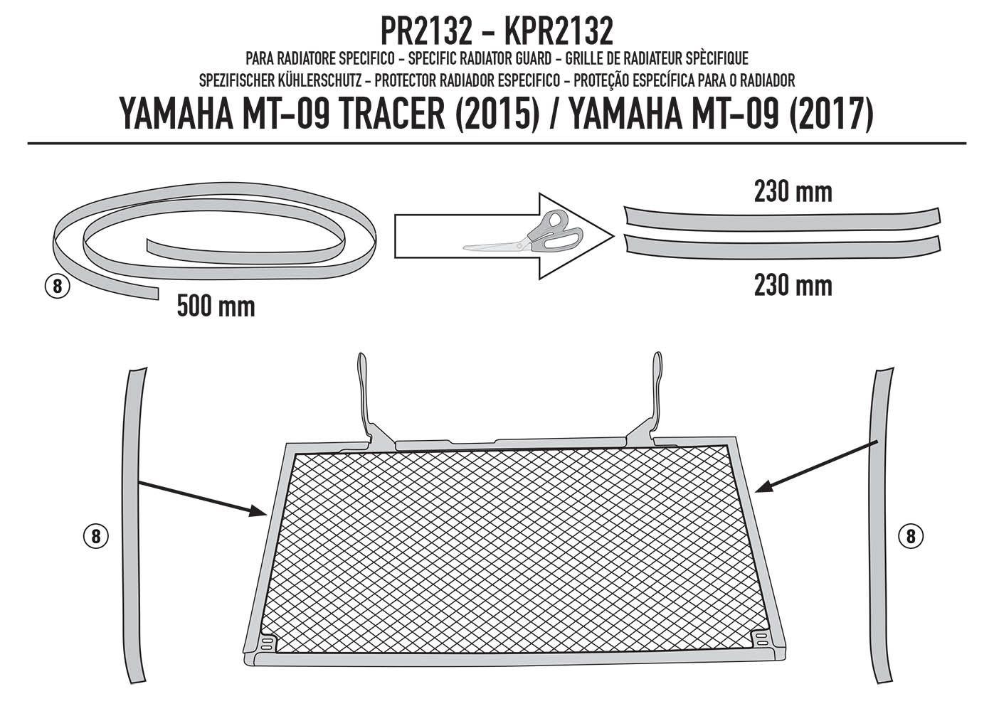 Protetor Radiador Mt 09 Trace r Marca Givi Pr2132