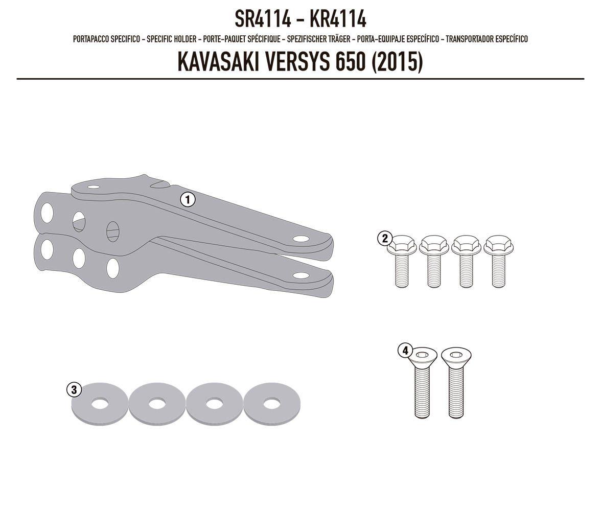 Rack Bagageiro Versys 650 Sr4114 Givi 2015 +