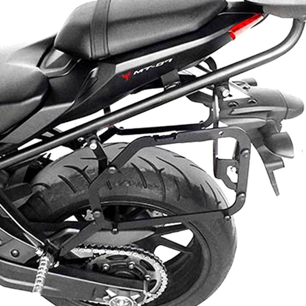 Suporte Baus Laterais Mt 07 Yamaha Monoey Aço Carbono Scam