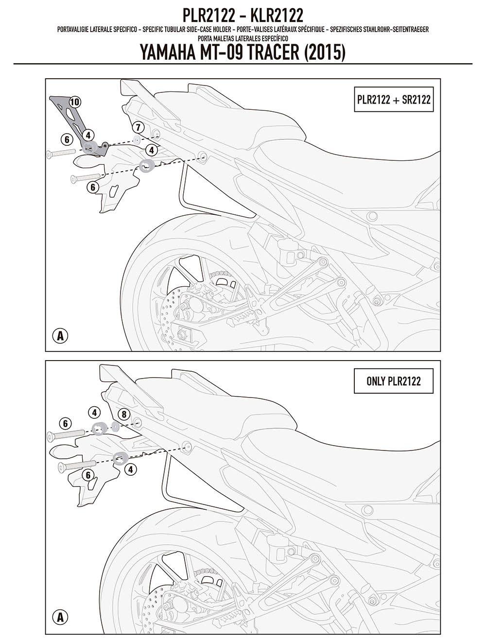 Suporte Lateral Bau Bauleto Mt 09 Trace r Givi Plr 2122