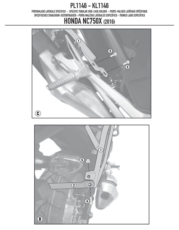 Suporte Lateral Bau Nc 750 X Givi Pl 1146