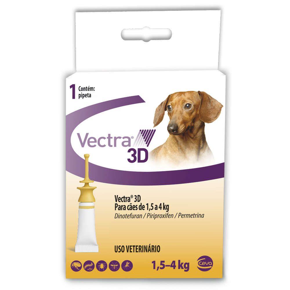 ANTI PULGAS CEVA VECTRA 3D PARA CAES 1,5 a 4kg