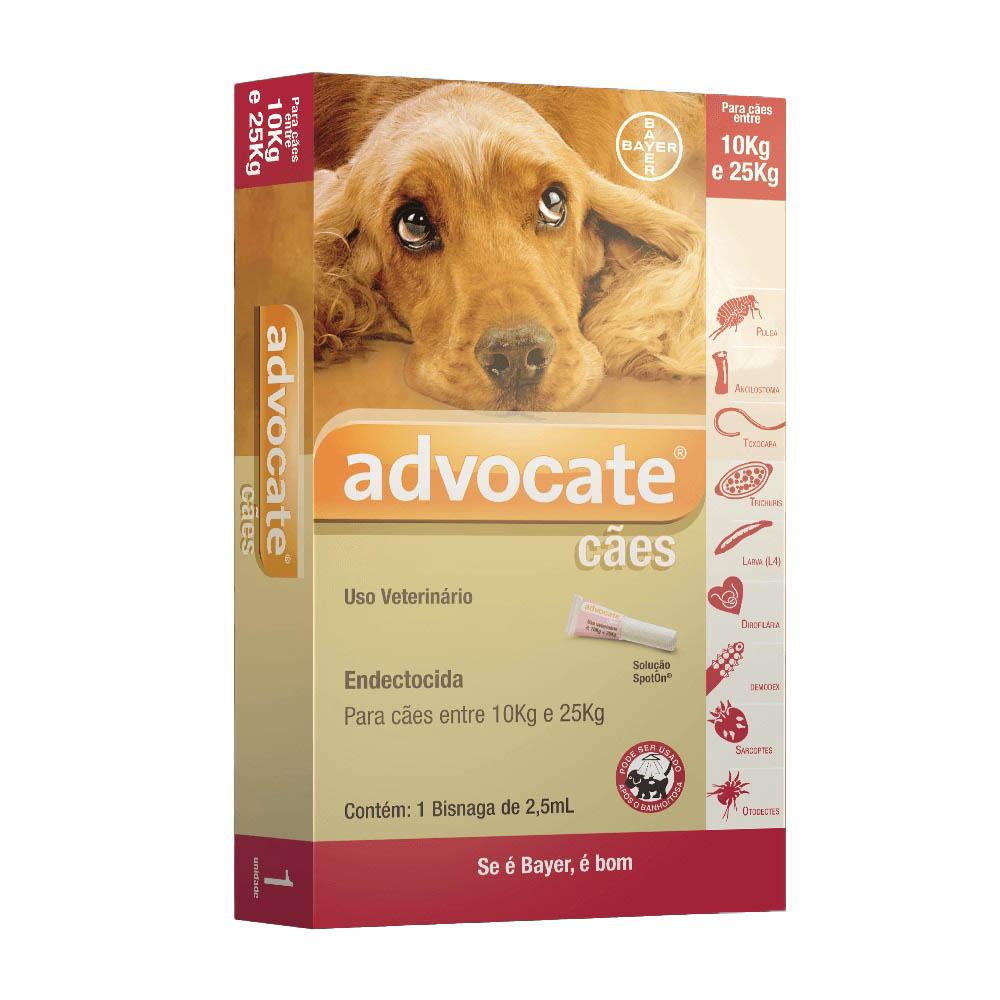 Antipulgas Advocate Bayer para Cães de 10 a 25kg