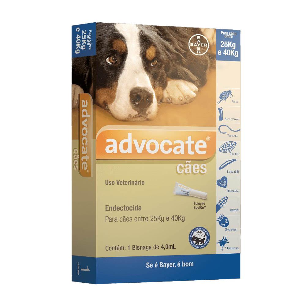 Antipulgas Advocate Bayer para Cães de 25 A 40 Kg 3 pipetas