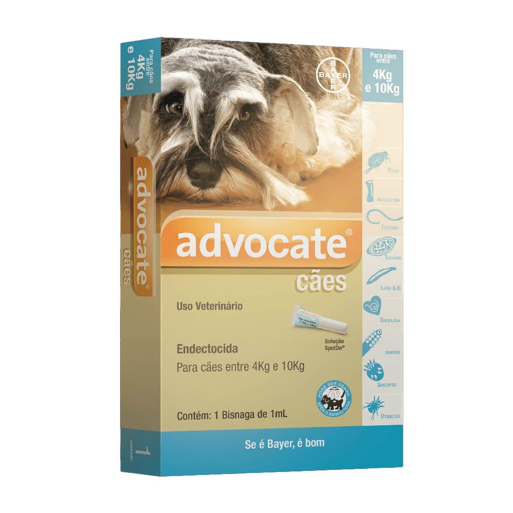 Antipulgas Advocate Bayer para Cães de  4 a 10kg