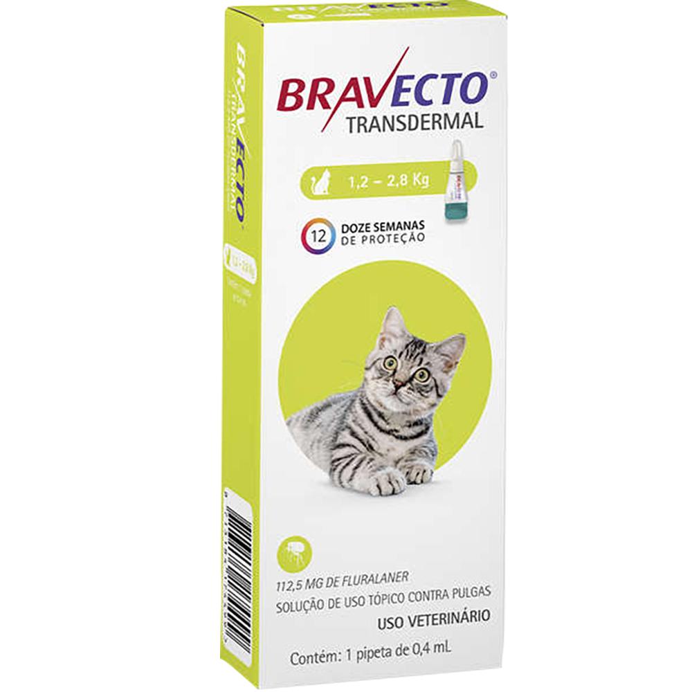 Antipulgas Bravecto Transdermal Gatos 112mg - 1,2kg A 2,8kg