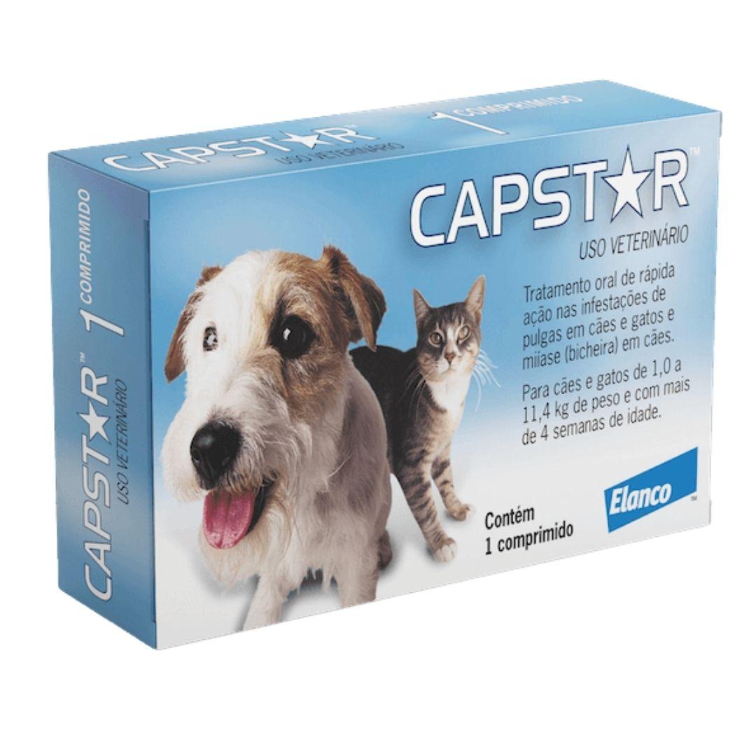 Antipulgas Capstar Elanco 11.4 mg para Cães e Gatos de até 11,4kg - 1 Comprimido
