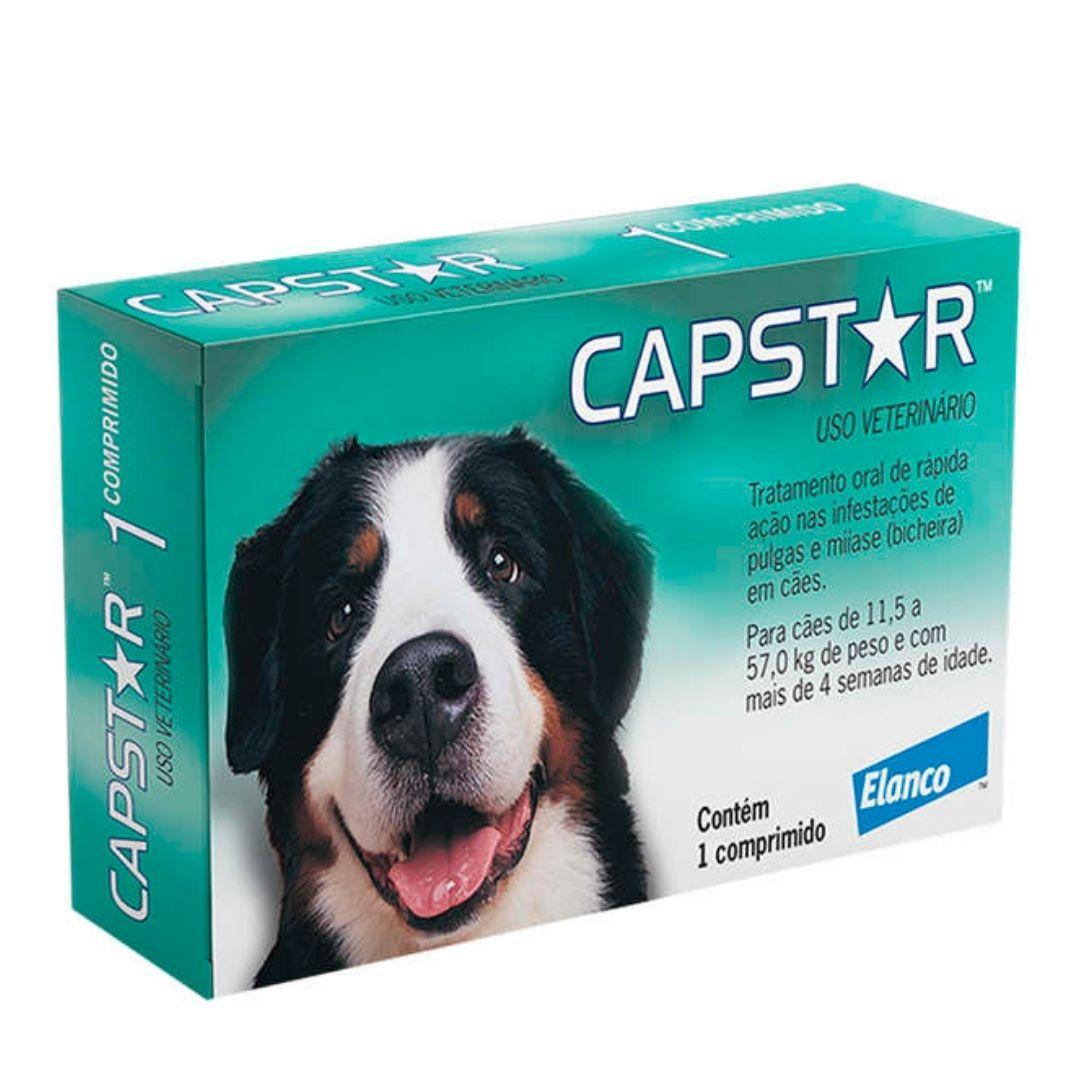 Antipulgas Capstar Elanco 57.0 mg para Caes acima de 11,5kg - 1 Comprimido