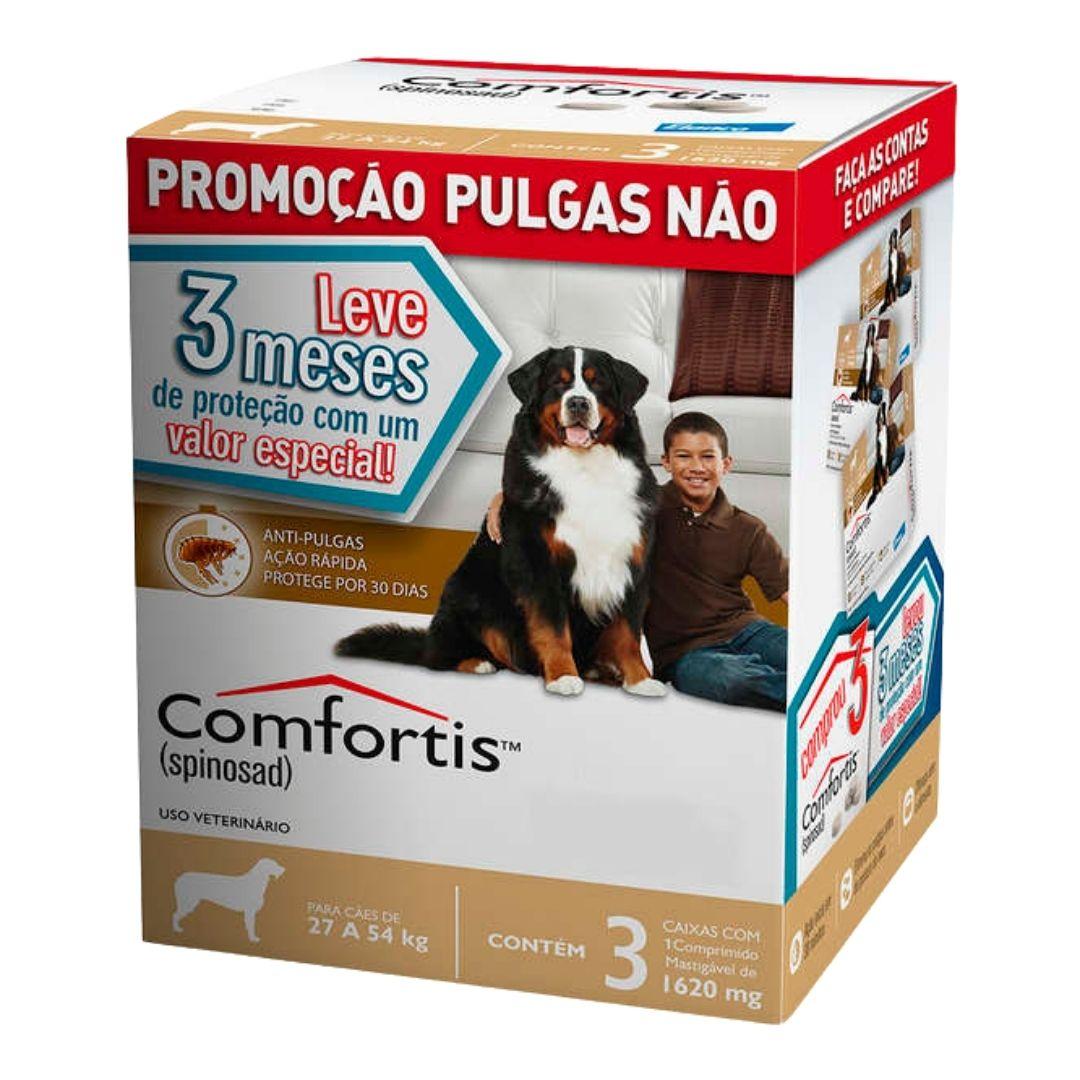 Antipulgas Comfortis Elanco 1620mg para Cães de 27 a 54kg  - 3 meses de Proteção