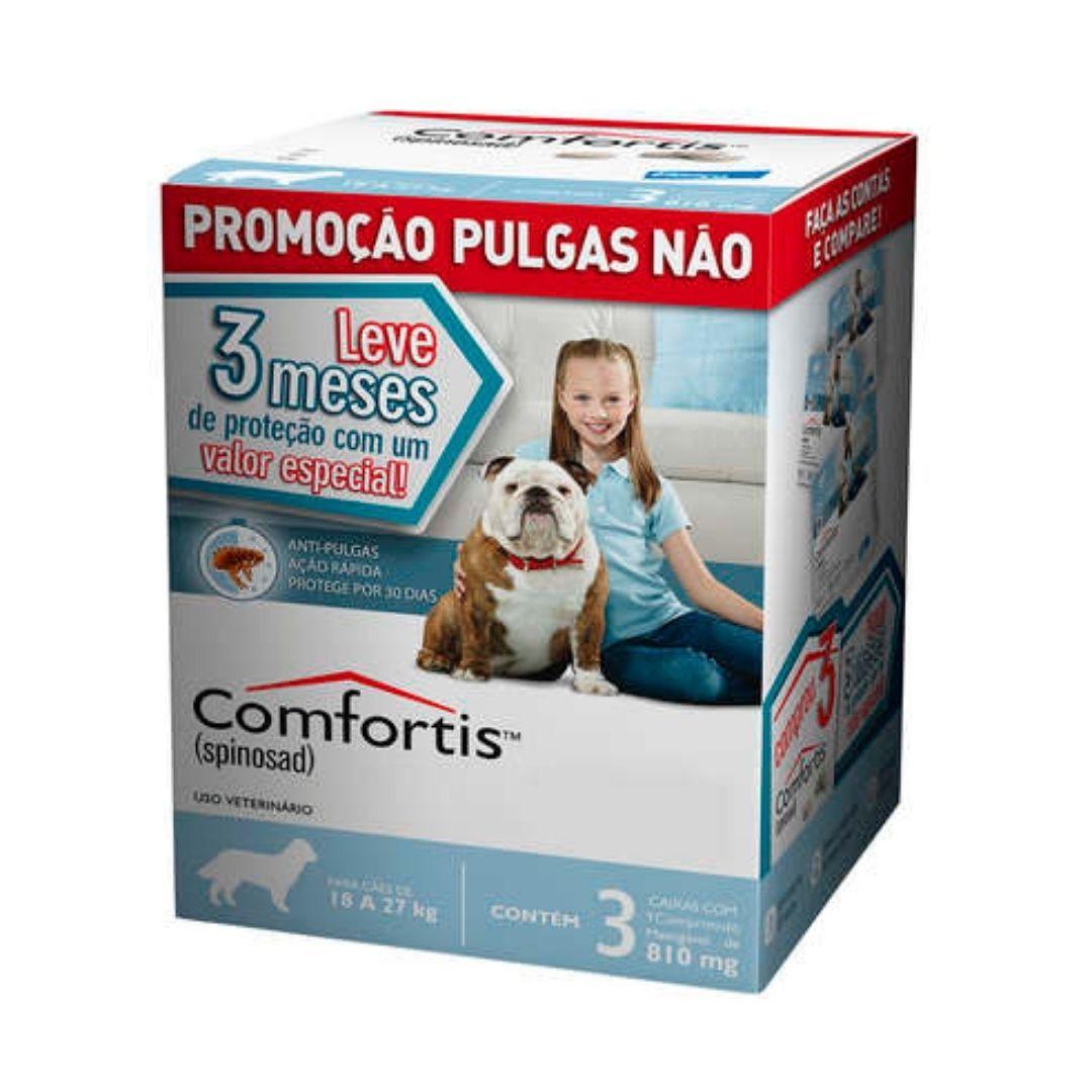 Antipulgas Comfortis Elanco  810mg para Cães de 18 a 27kg  - 3 meses de Proteção