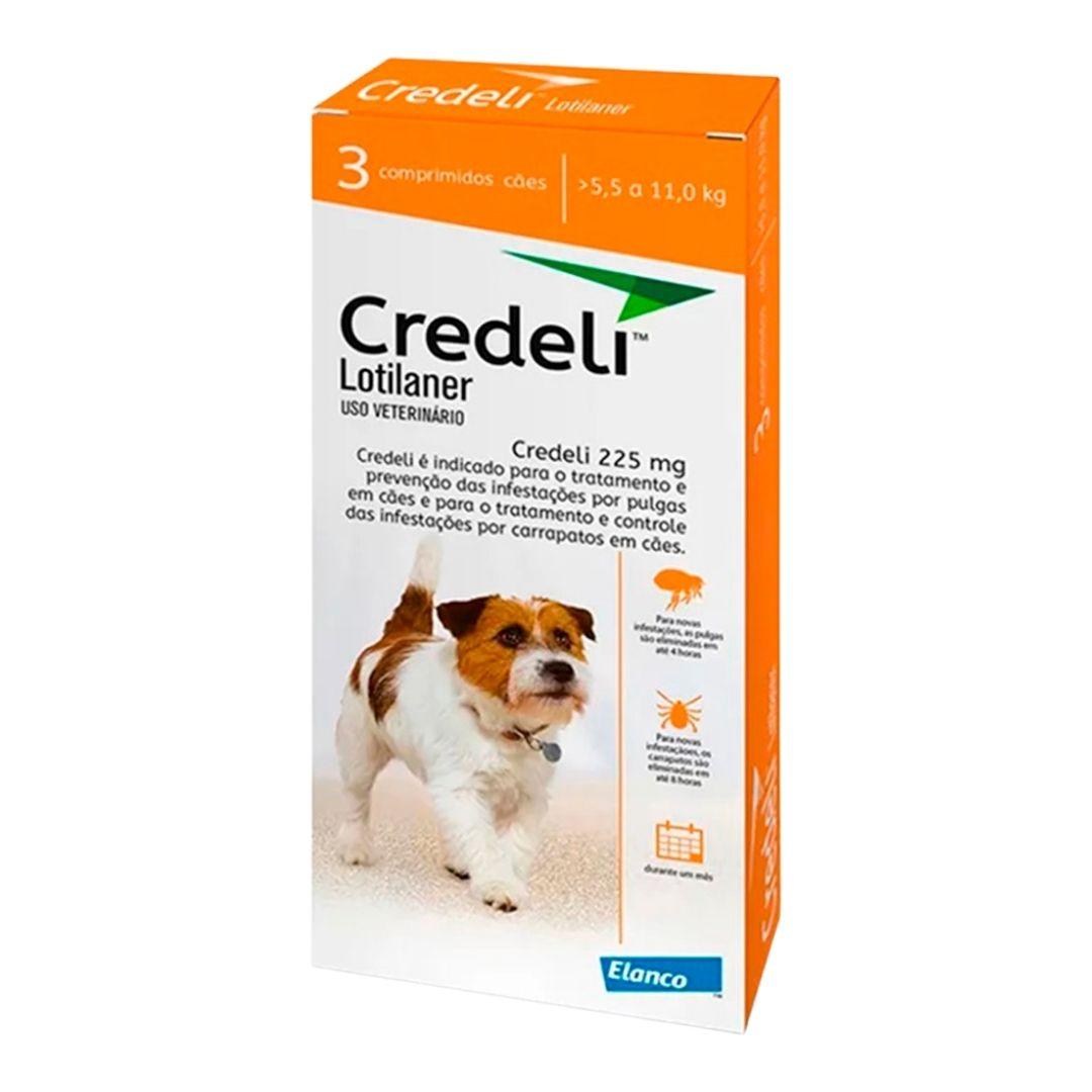Antipulgas e Carrapatos Credeli Elanco 225mg para Cães de 5,5 a 11kg