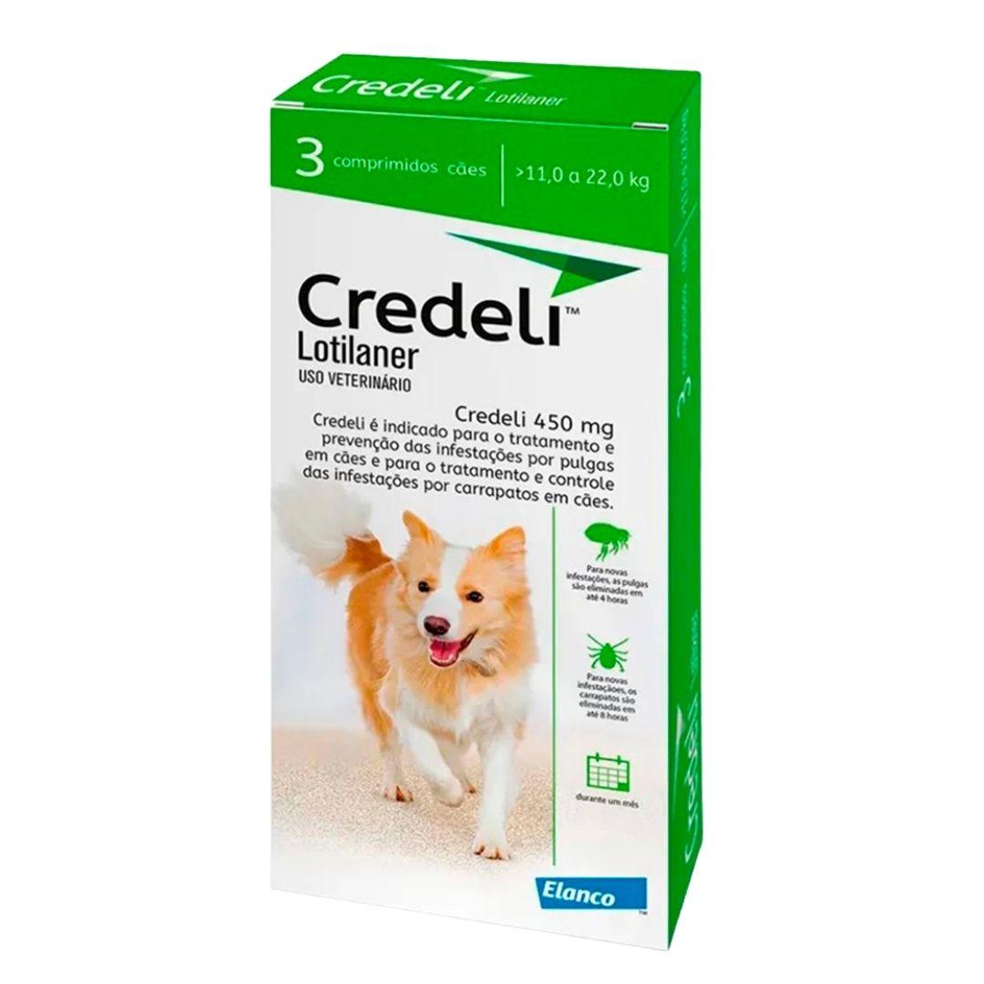 Antipulgas e Carrapatos Credeli Elanco 450mg para Cães de 11 a 22kg