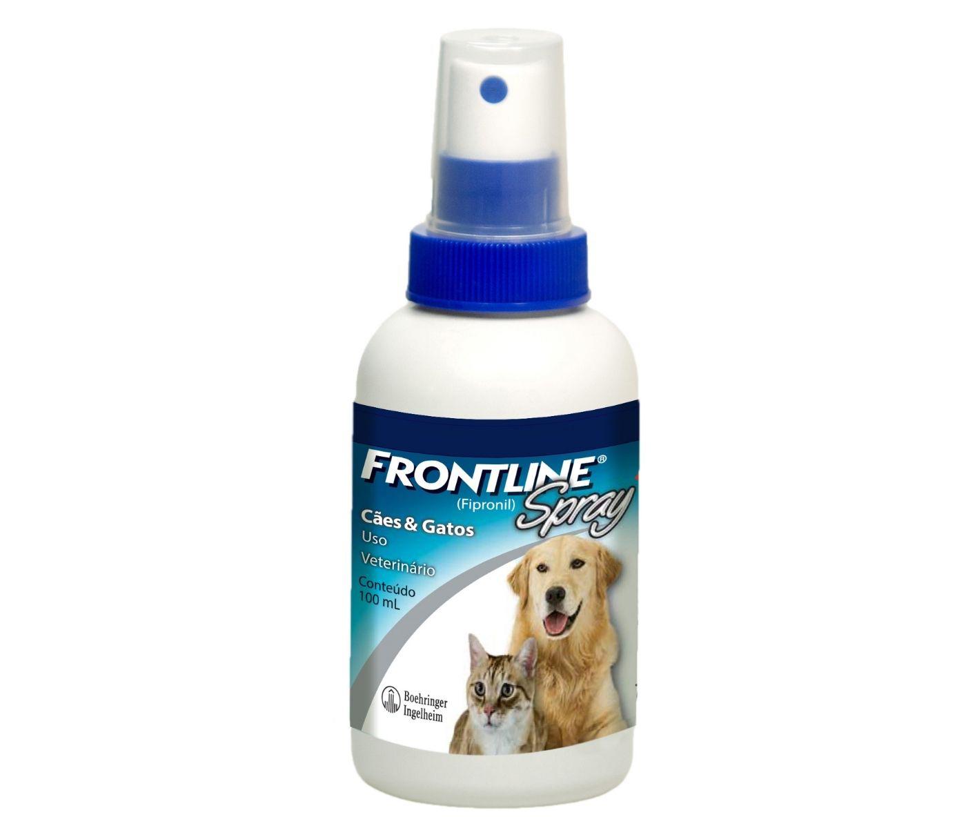Antipulgas e Carrapatos Frontline Spray Boehringer para Cães e Gatos - 100ml