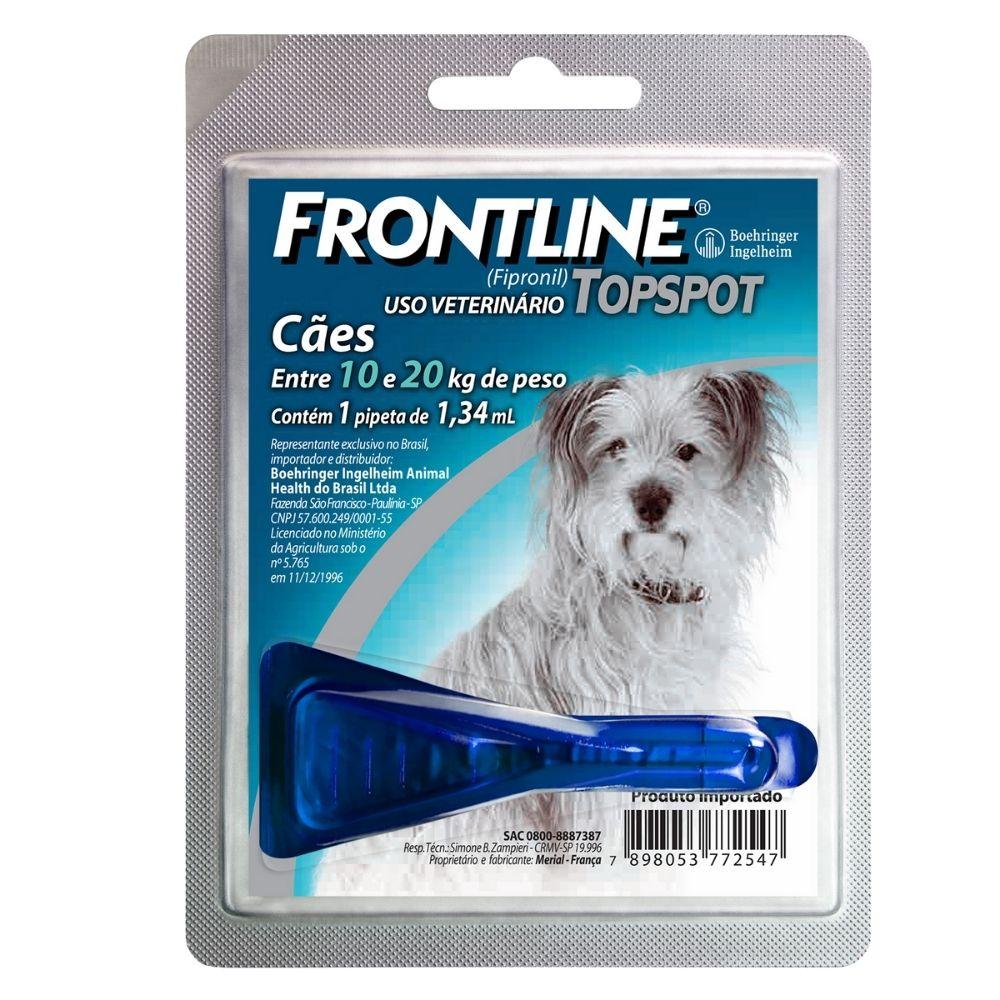 Antipulgas e Carrapatos Frontline TopSpot Boehringer Cães de 10 a 20kg