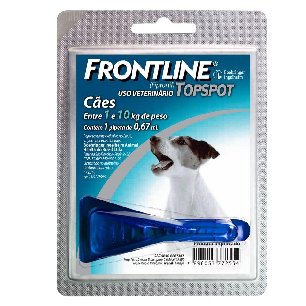 Antipulgas e Carrapatos Frontline TopSpot Boehringer Cães de  1 a 10kg