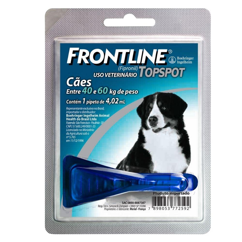 Antipulgas e Carrapatos Frontline TopSpot Boehringer Cães de 40 a 60kg