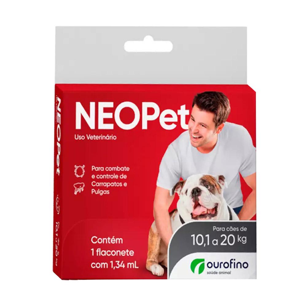 Antipulgas e Carrapatos Neopet Ourofino 0,67ml para Cães de 10,1 a 20kg