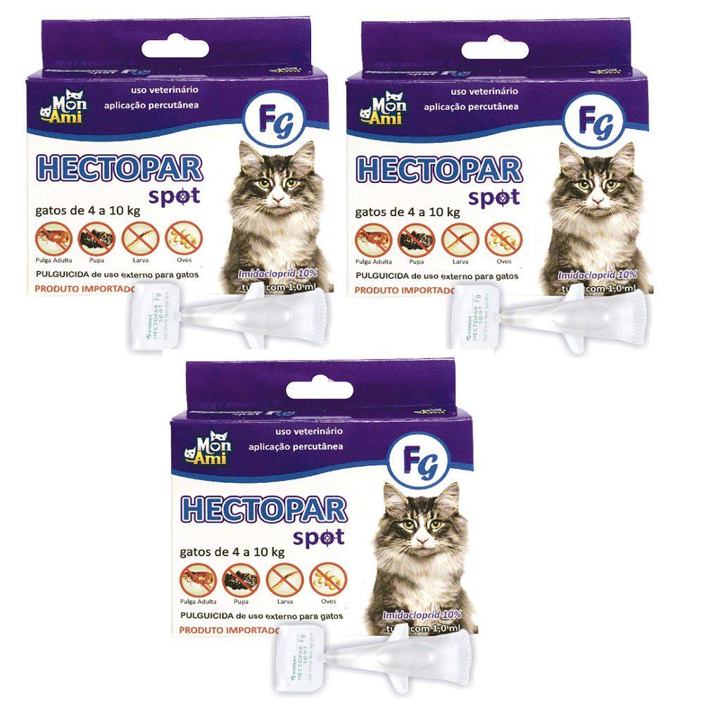 Antipulgas Hectopar FG para Gatos de 04 a 10 kg- 03 unidades