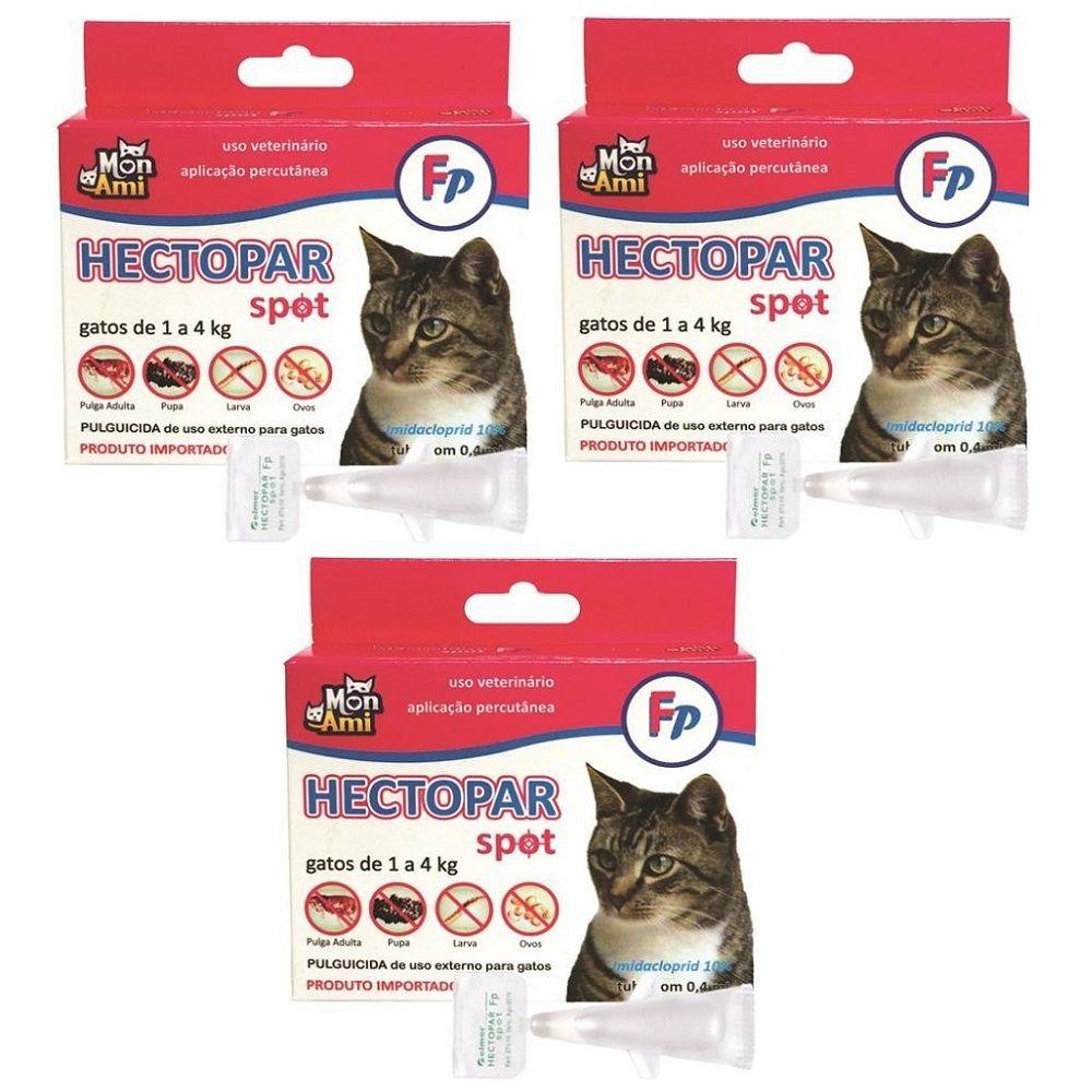 Antipulgas Hectopar FP para Gatos de 01 a 04 kg- 03 unidades