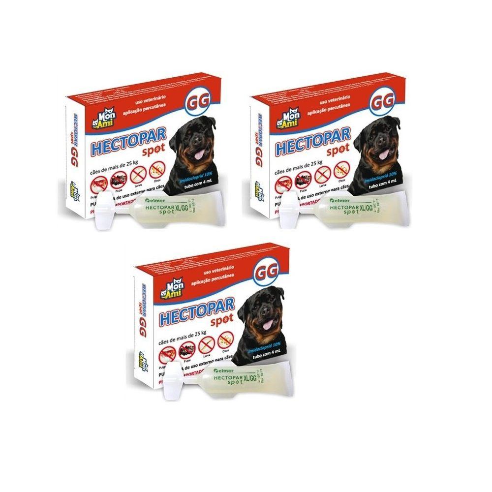 Antipulgas Hectopar GG para Cães com de 25kg - 03 unidades