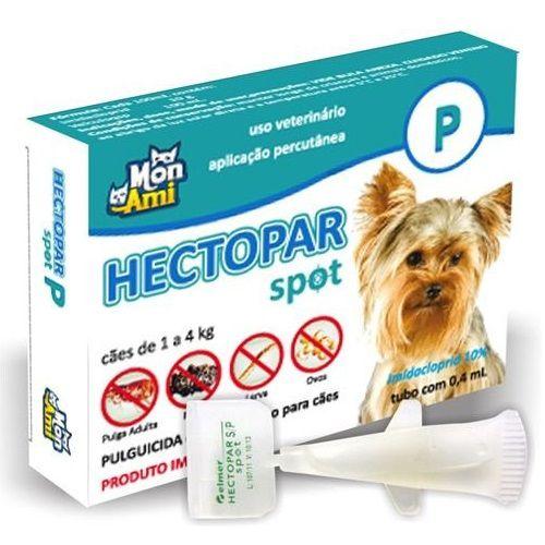 Antipulgas Hectopar P para Cães de 01 a 04 kg.