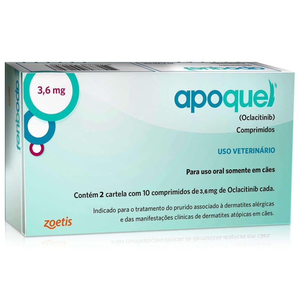 Apoquel Dermatológico Zoetis 3,6 Mg Combo Com 02 Unidades