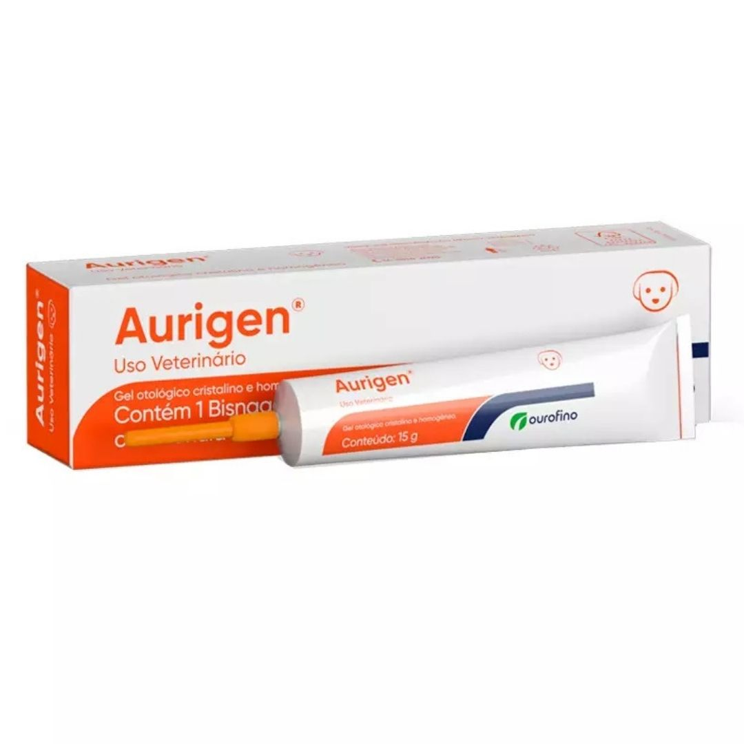 Aurigen Gel Ourofino 15g  - Pomada Para Tratamento Otológico