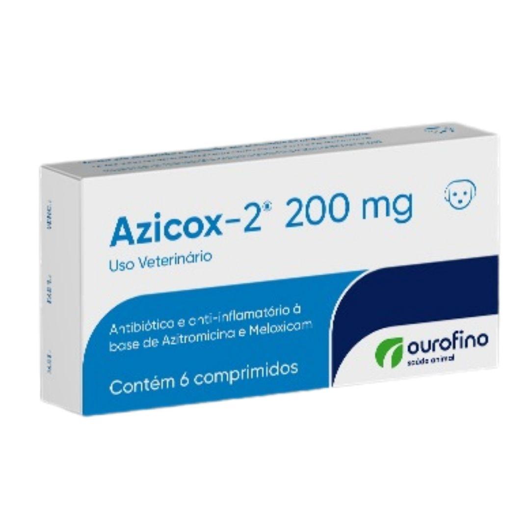 Azicox-2 Ouro Fino 200mg - 6 Comprimidos - Antibiótico e Anti-inflamatório