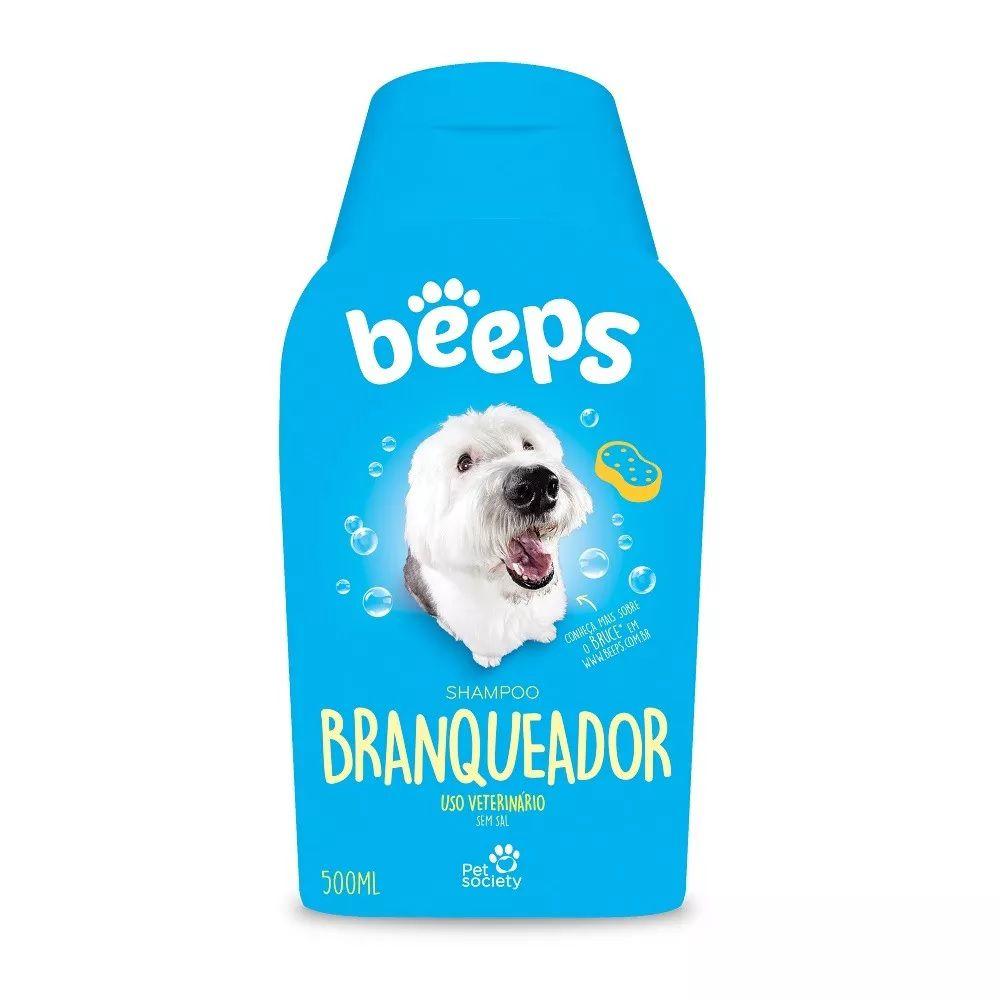 Beeps 500 Ml Shampoo Pet Society Branqueador Cães