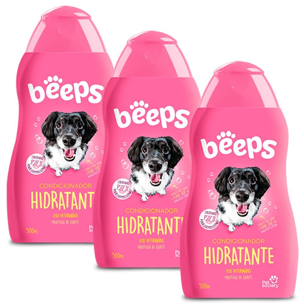Beeps Condicionador Hidratante Pet Society 500ml - 3 Unid.
