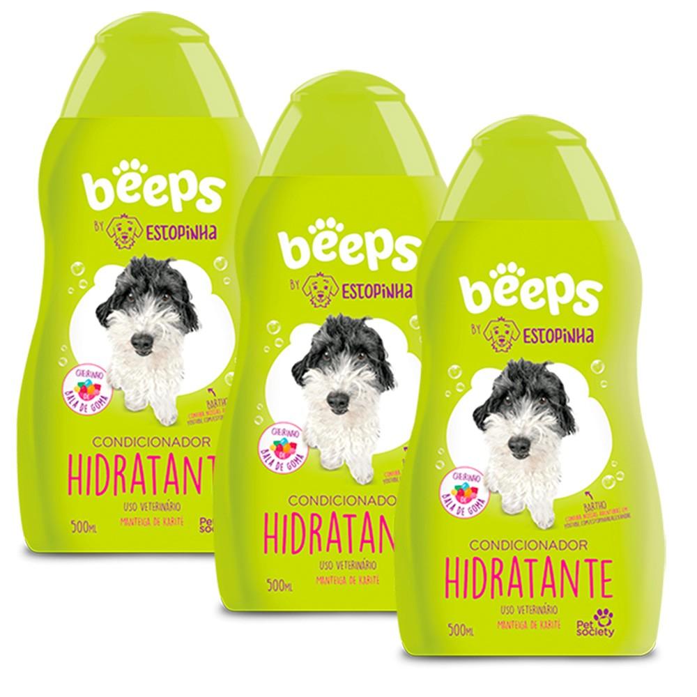 Beeps Estopinha Condicionador Hidratante 500ml - 3unid.