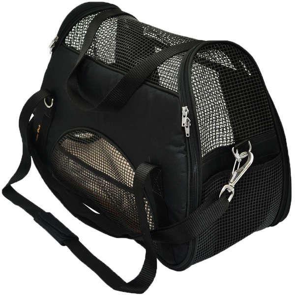 Bolsa Atenas Para Transporte De Cães Em Avião Nº2 Preta
