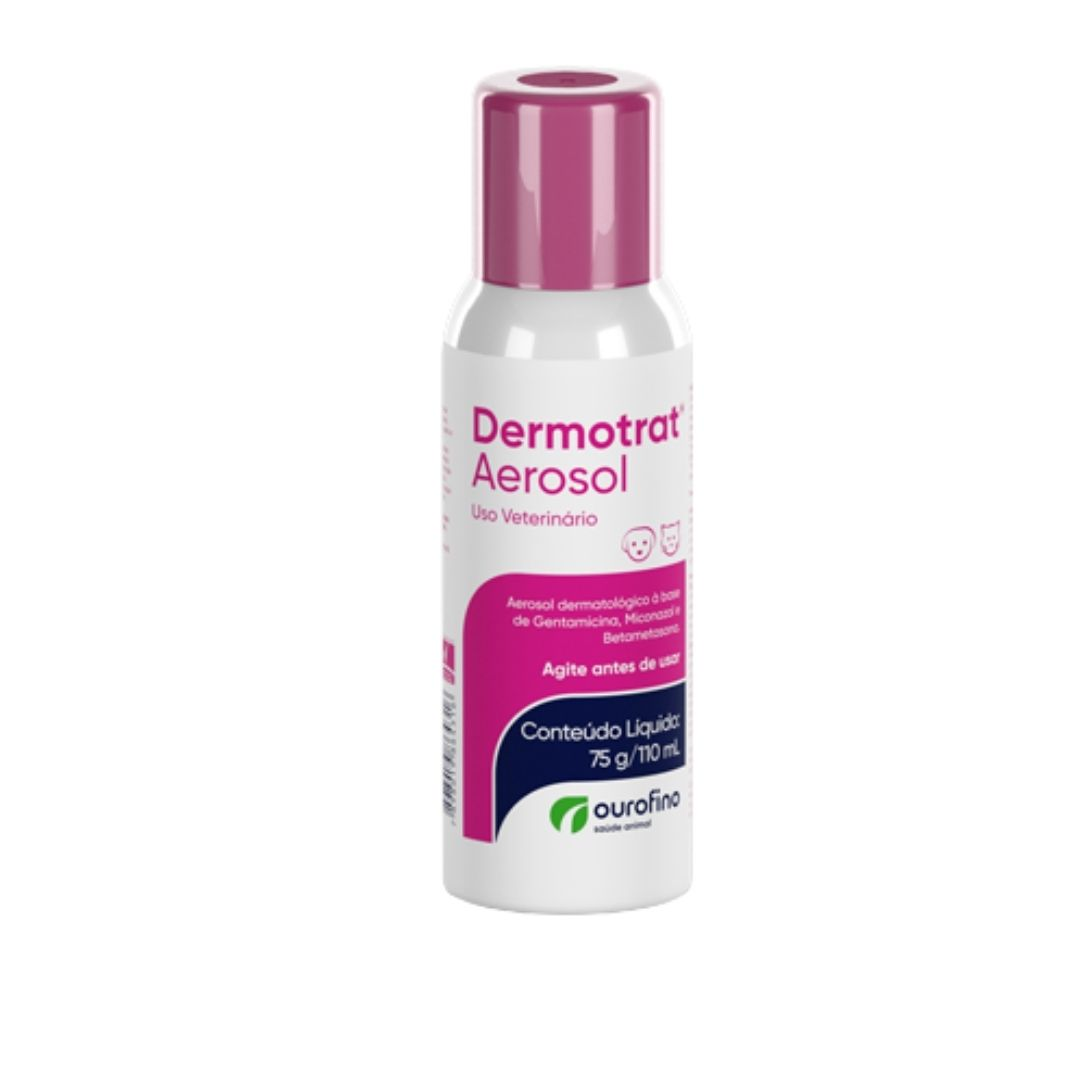Dermotrat Aerosol Ourofino  50g/120ml - Ação Antibiótica e Cicatrizante