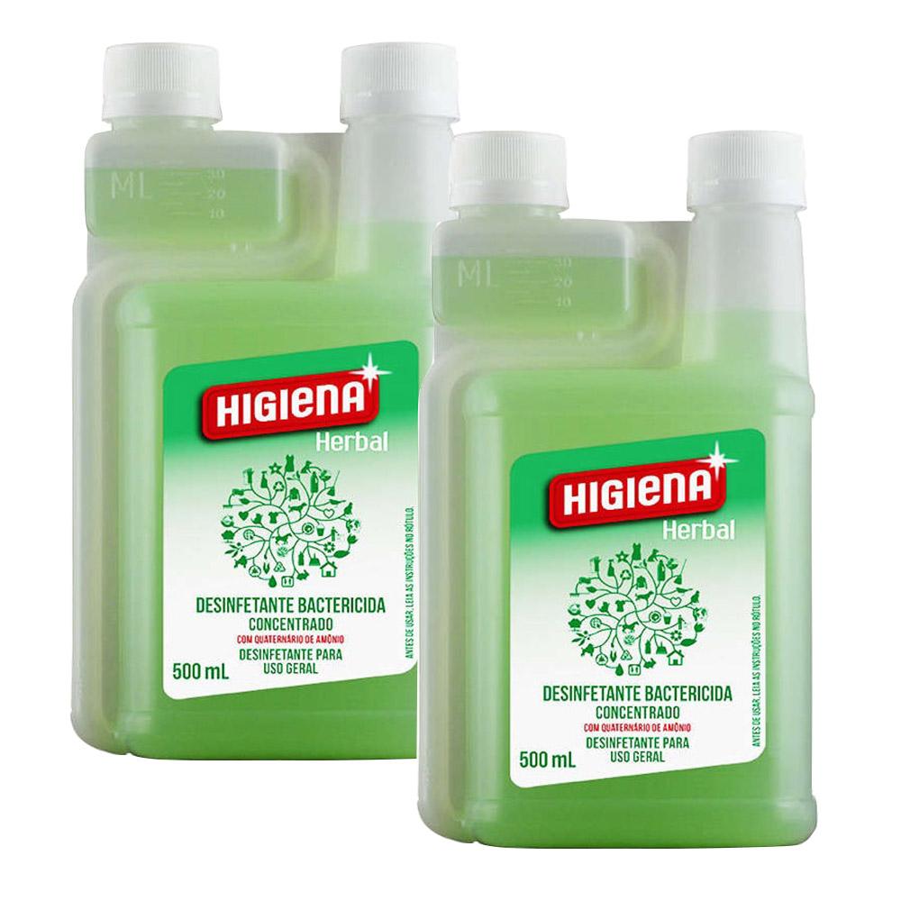 Desinfetante Higiena Herbal Unique 500 Ml -  2 Unidades
