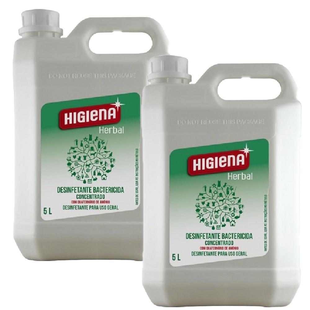 Desinfetante Higiena Herbal Unique 5 Litros -  2 Unidades