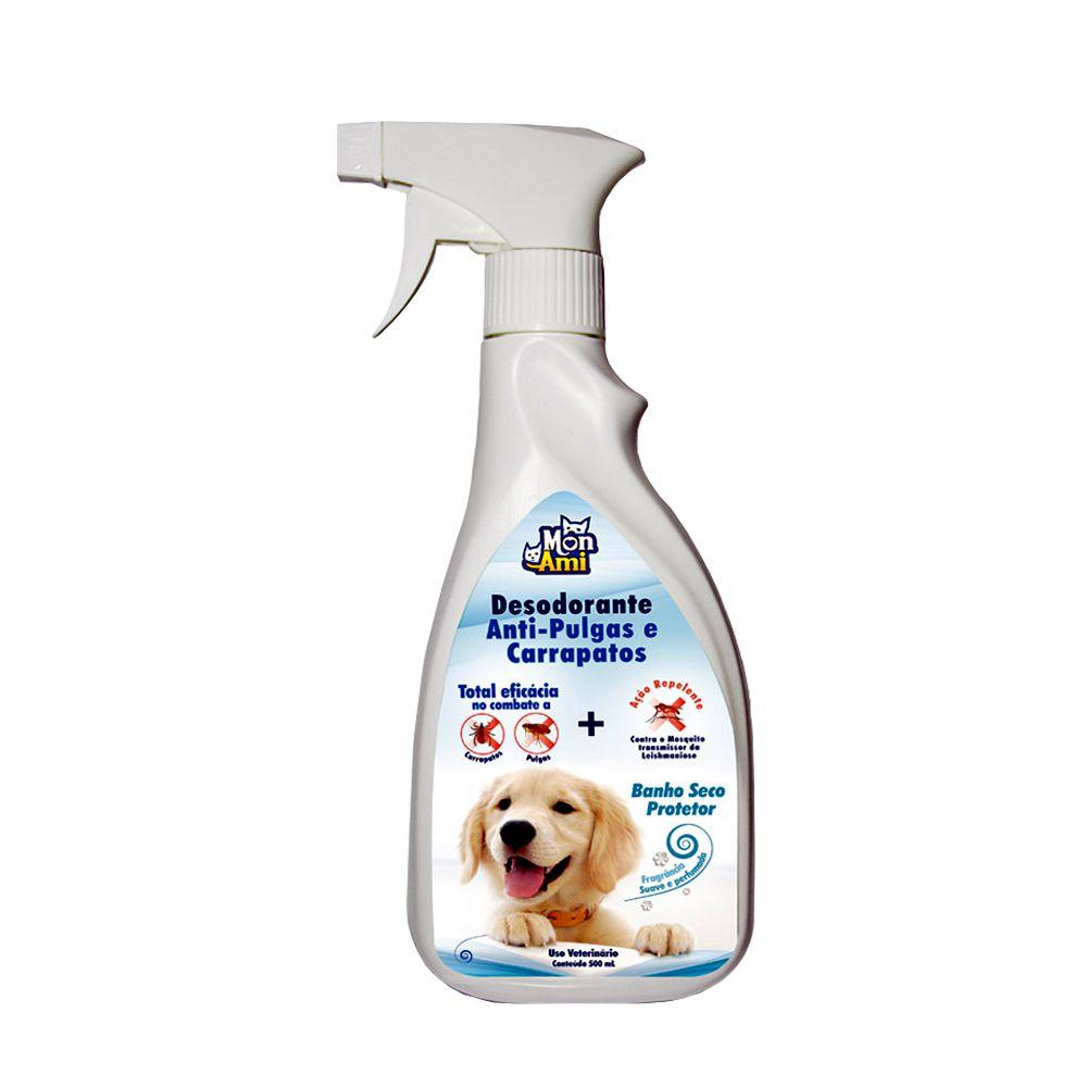 Desodorante Anti-Pulgas e Carrapatos para Cães Mon Ami 500ml