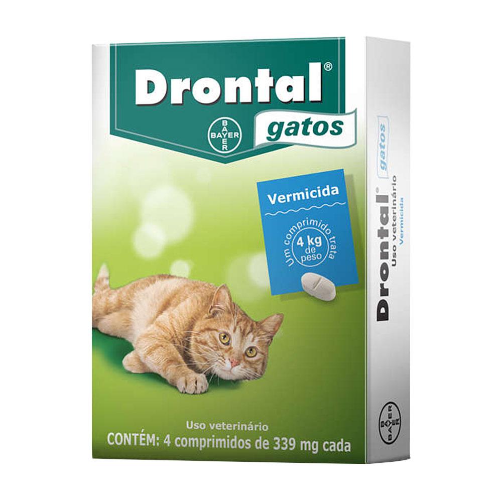 Drontal Gatos Vermífugo Com 4 Comprimidos