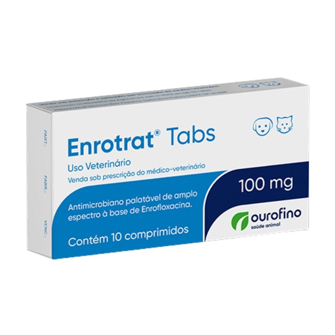 Enrotrat Tabs Ourofino 100mg - 10 Comprimidos - Enrofloxaxina