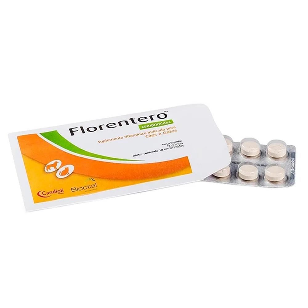 Florentero Bioctal 1 Cartela Com 10 Comprimidos Palatáveis