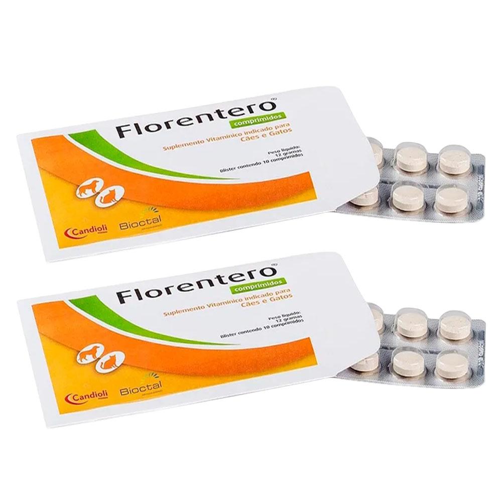 Florentero Bioctal 2 Cartelas 20 Comprimidos Palatáveis