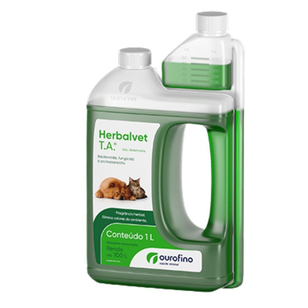 Herbalvet Ourofino T.A. 1 Litro - Desinfetante Bactericida