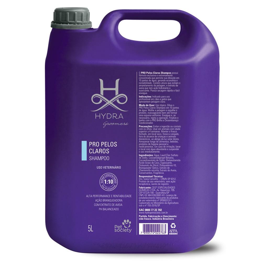 Hydra Shampoo Pelos Claros Groo Pro 5l - Diluição (1:10)
